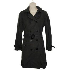 GAP dark grey double breast trench coat medium